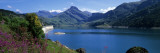 Lake with Dam, Roselend Lake, Beaufortain Area, French Alps Wall Decal by  Panoramic Images