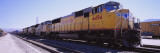Freight Train on Railroad Tracks, California, USA Wall Decal by  Panoramic Images