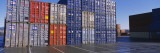 Cargo Containers on a Commercial Dock Wall Decal by  Panoramic Images