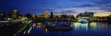 Parliament Building at Night, Vancouver Island, Victoria, British Columbia, Canada Wall Decal by  Panoramic Images