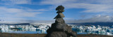 Stack of Rocks on a Landscape, Breidamerkurjokull, Jokulsarlon Lagoon, Iceland Wall Decal by  Panoramic Images