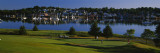 Four People Playing Golf at a Golf Course,Lunenburg Harbor, Lunenburg, Nova Scotia, Canada Wall Decal by  Panoramic Images
