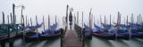 Gondolas Moored in a Canal, Grand Canal, Venice, Italy Wall Decal by  Panoramic Images