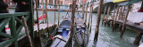 Gondolas Moored near a Bridge, Rialto Bridge, Grand Canal, Venice, Italy Wall Decal by  Panoramic Images