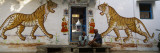 Two Mature Men Sitting in Front of a Door of a Building, Udaipur, Rajasthan, India Wall Decal by  Panoramic Images