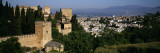 Palace with a City in the Background, Alhambra, Granada, Andalusia, Spain Wall Decal by  Panoramic Images