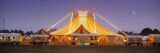 Circus Lit Up at Dusk, Circus Narodni Tent, Prague, Czech Republic Wall Decal by  Panoramic Images