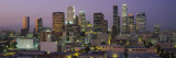Skyscrapers in Los Angeles Lit Up at Dusk, California, USA Wall Decal by Panoramic Images 