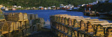 Stack of Lobster Traps on the Coast, Salvage, Newfoundland and Labrador, Canada Wall Decal by  Panoramic Images