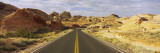Empty Road Running Through a Landscape, Valley of Fire State Park, Nevada, USA Wall Decal by  Panoramic Images