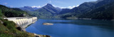 Dam along a Lake in a Landscape, Roselend Lake, Beaufortain Area, French Alps Wall Decal by  Panoramic Images