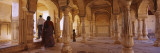 Three People in a Fort, Amber Fort, Jaipur, Rajasthan, India Wall Decal by  Panoramic Images