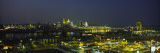 Buildings Lit Up at Night, Cincinnati, Ohio, USA Wall Decal by  Panoramic Images