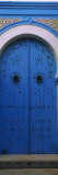 Closed Door of a House, Medina, Sousse, Tunisia Wall Decal by  Panoramic Images
