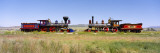 Steam Engine Jupiter and 119 on a Railroad Track, Golden Spike National Historic Site, Utah, USA Wall Decal by  Panoramic Images