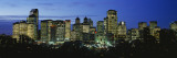 Buildings Lit Up at Dusk, Calgary, Alberta, Canada Wall Decal by  Panoramic Images