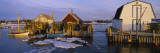 Boats Docked in Front of Houses, Blue Rocks, Nova Scotia, Canada Wall Decal by  Panoramic Images