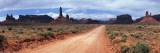 Dirt Road Through Desert Landscape with Sandstone Formations, Utah Autocollant mural par  Panoramic Images