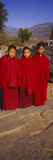 Three Monks Standing Together, Paro, Bhutan Wall Decal by  Panoramic Images