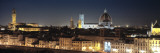 Buildings Lit Up at Night, Florence, Tuscany, Italy Wall Decal by  Panoramic Images