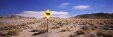 Animal Crossing Sign at a Road Side in the Desert, Californian Sierra Nevada, California, USA Wall Decal by  Panoramic Images