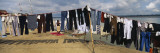 Clothes Hanging on a Clothesline, Varanasi, Uttar Pradesh, India Wallstickers af Panoramic Images,