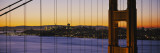 Close-Up of Golden Gate Bridge with a City in the Background, San Francisco, California, USA Wall Decal by  Panoramic Images