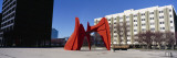 Sculpture in Front of a Building, Alexander Calder Sculpture, Grand Rapids, Michigan, USA Wall Decal by  Panoramic Images