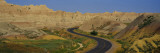 Road Passing Through a Landscape, Badlands National Park, South Dakota, USA Wall Decal by  Panoramic Images