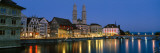 Buildings at the Waterfront, Grossmunster Cathedral, Zurich, Switzerland Wall Decal by  Panoramic Images