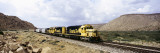 Train on Santa Fe Railroad, Route 66, Valentine, Arizona, USA Wall Decal by  Panoramic Images
