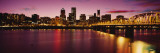 Willamette River at Sunset, Portland, Oregon, USA Wall Decal by Panoramic Images