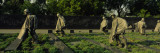 Statues of Army Soldiers in a Park, Korean War Veterans Memorial, Washington DC, USA Wall Decal by  Panoramic Images