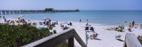 Tourists on the Beach, Naples Beach, Gulf of Mexico, Naples, Florida, USA Wall Decal by  Panoramic Images