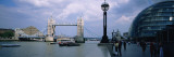Bridge over a River, Tower Bridge, Thames River, London, England Wall Decal by Panoramic Images