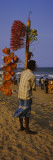 Man Selling Novelty Items on the Beach, Marina Beach, Chennai, Tamil Nadu, India Wall Decal by  Panoramic Images