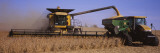 Combine Harvesting Soybeans in a Field, Minnesota, USA Wall Decal by  Panoramic Images