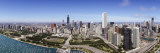 Aerial View of Lake Michigan, Lake Shore Drive, Chicago, Illinois, USA Wall Decal by  Panoramic Images