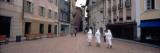 People Walking on the Street, Town Center, Bellinzona, Ticino, Switzerland Wall Decal by  Panoramic Images