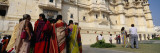 Tourists Standing near a Palace, Udaipur City Palace, Udaipur, Rajasthan, India Wall Decal by  Panoramic Images