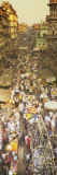 Crowd at a Street Market, Mumbai, India Wall Decal by  Panoramic Images