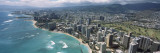 Aerial View of Buildings at the Waterfront, Waikiki Beach, Honolulu, Oahu, Hawaii, USA Wall Decal by  Panoramic Images