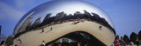 Reflection of Buildings on a Sculpture, Cloud Gate, Millennium Park, Chicago, Illinois, USA Wall Decal by  Panoramic Images