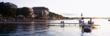 People at a Waterfront, Lake Mendota, University of Wisconsin, Memorial Union, Madison, Wisconsin Wall Decal by  Panoramic Images