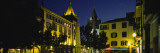 Buildings Lit Up at Night, Cathedral Se, Funchal, Madeira, Portugal Wall Decal by  Panoramic Images