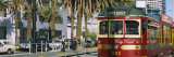 Cable Car Along a Road, City Circle Tram, Harbor Esplanade, Melbourne, Victoria, Australia Wall Decal by  Panoramic Images