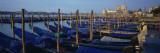 Gondolas Moored at a Harbor, Santa Maria Della Salute, Venice, Italy Wall Decal by  Panoramic Images