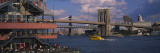 Brooklyn Bridge, East River, Manhattan, New York City, New York, USA Wall Decal by  Panoramic Images