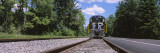 Train on a Railroad Track, Thendara Station, Adirondack Mountains, Thendara, Old Forge, New York Wall Decal by  Panoramic Images
