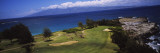 View of the Bay Course at the Seaside, Ritz-Carlton, Kapalua, Maui, Maui County, Hawaii, USA Wallstickers af Panoramic Images,